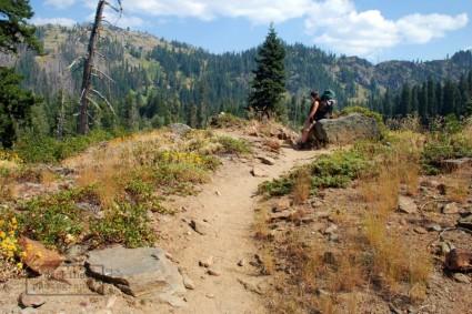 Shana taking a break - Marble Mountain Wilderness
