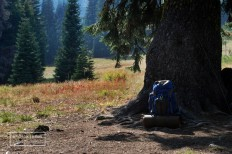my backpack in Marble Mountain Wilderness