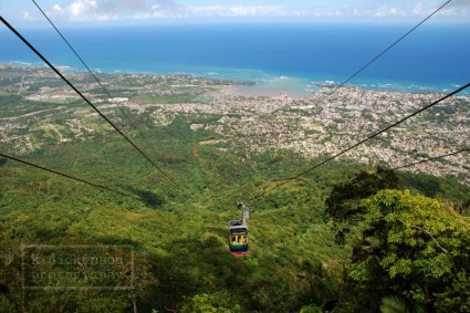 The cable car ride up to Pico Isabel de Torres (2,621 feet), Puerto Plata
