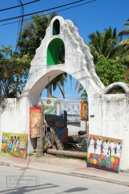 Art on display in Las Terrenas, Dominican Republic