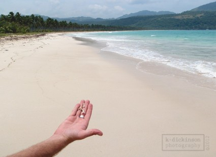 An open stretch of sand at Playa del Rincon