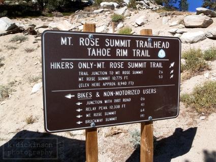 Mt. Rose Sign