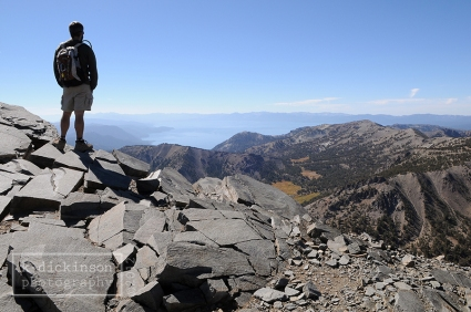 Matt at the summit of Mt. Rose