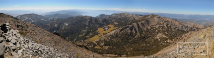 Panoramic view from the summit of Mount Rose
