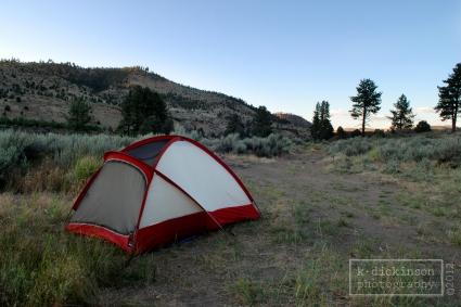 Campsite at Carson River