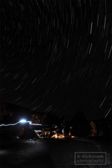 Startrails at Carson River Hot Springs, California