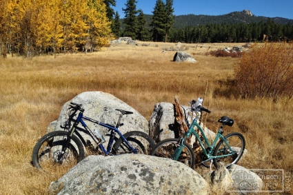 Bike Trail from Lam Watah Meadow to Round Hill. Stateline, Nevada. October 2013. iPhone 5.
