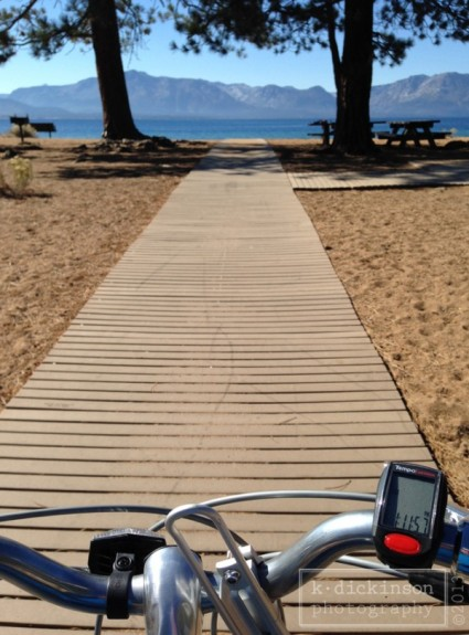 Nevada Beach on Lake Tahoe, Stateline, Nevada. October 2013. iPhone 5.