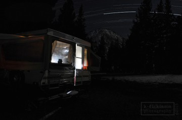 Star Trails at Highland Lakes, California