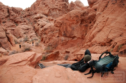 Hiking in Valley of Fire. January 2010. Nikon D80.