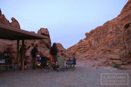 Our campsite at Valley of Fire State Park
