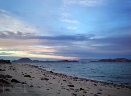 Sunset at Bahia de los Angeles, Baja California. January 2014. iPhone 5.