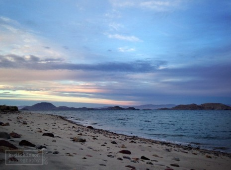 Sunset at Bahia de los Angeles, Baja California. January 2014. iPhone 5.