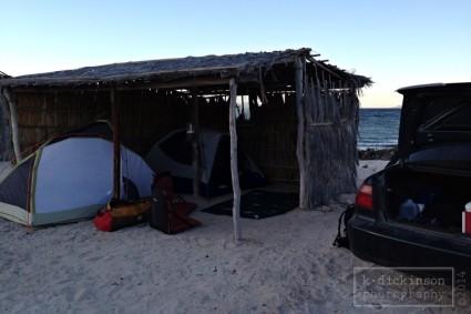 Campsite at Playa La Pearla