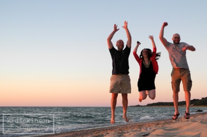 The sunset was gorgeous, and the light was perfect. So I asked (insisted) for my family to model.