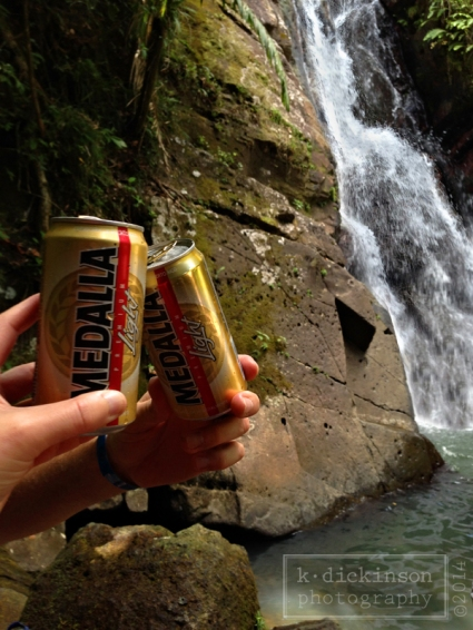 Lunch break at La Mina Falls (El Yunque National Forest).
