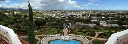 A panoramic view of Ponce from the Museo Castillo Serralles.
