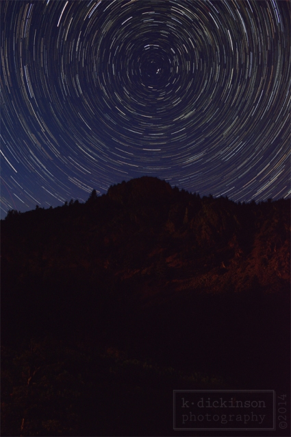 Star Trails near Sonora Pass, California