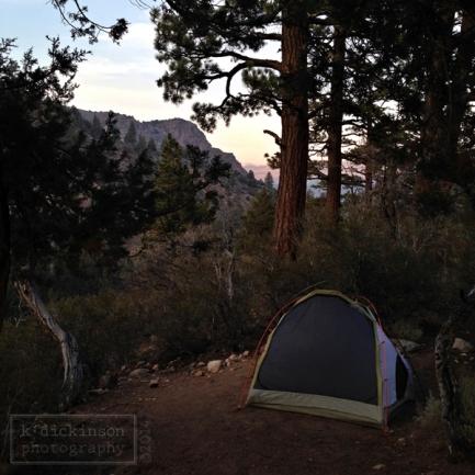 Camping at Sonora Bridge.