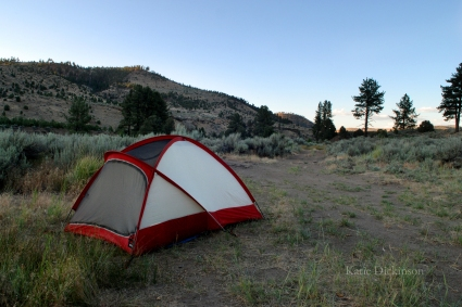 Camping at the Carson River Hot Springs