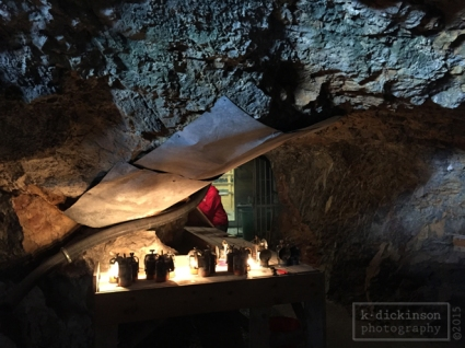 Lanterns at the Werfen Ice Caves.