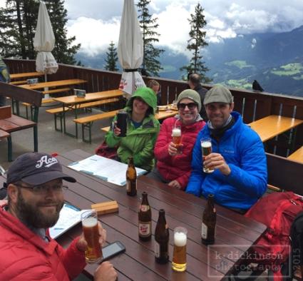 Beers in Werfen, Austria