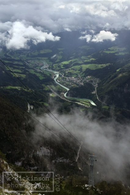View from the cable car, Werfen, Austria