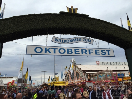 Entrance to Oktoberfest, Munich