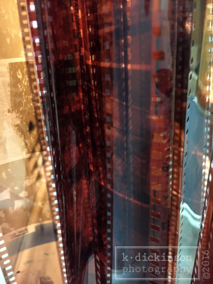 Close Up of 35mm Film Strips