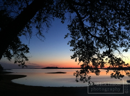 Sunset at Folsom Lake