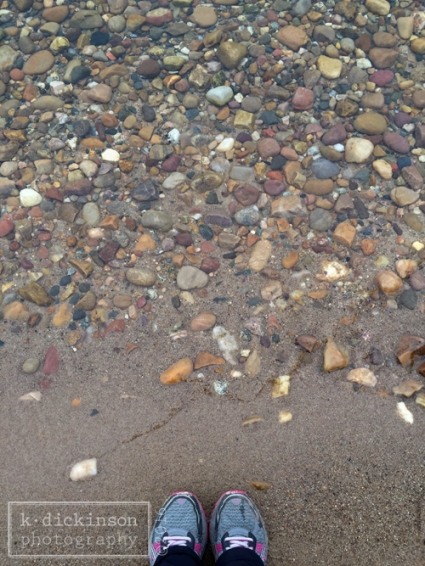 On the shore of Lake Superior