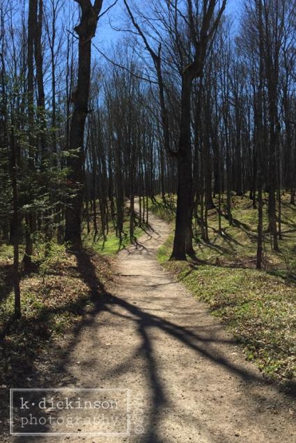 Springtime in Munising, Michigan