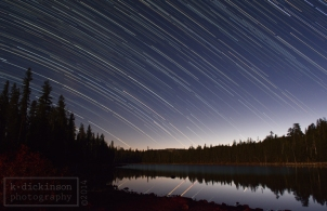 startrails at snag lake