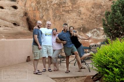 Family at Moab 4x6