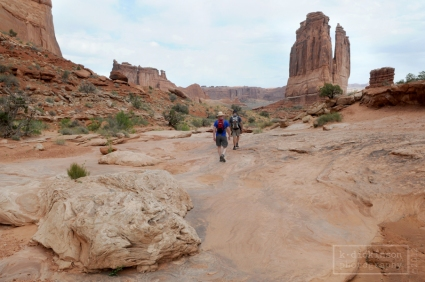 Hiking Park Avenue, Arches NP