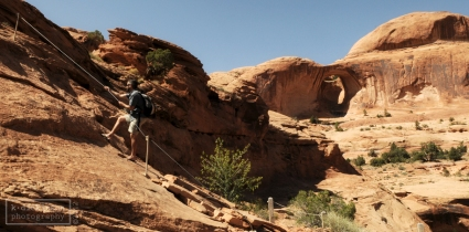 Heading up to Bowtie Arch.