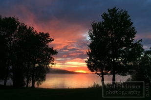 Sunset on Munising Bay - Michigan