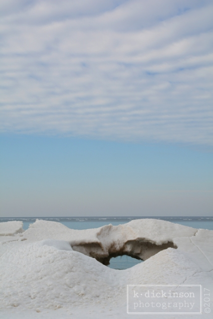 Ice Formation on Lake Michigan